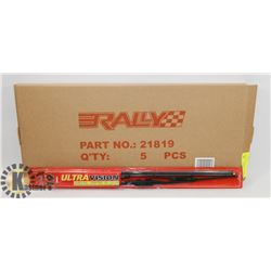 "BOX OF 5 ULTRAVISION 19"" WIPER BLADES."