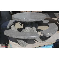 OUTDOOR PATIO ROUND CONCRETE TABLE