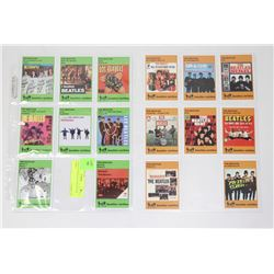 2 SHEETS OF BEATLE COLLECTOR CARDS