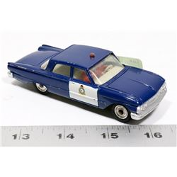 DINKY TOYS RCMP FORD FAIRLANE DIECAST CAR, MADE IN