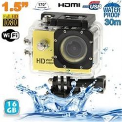 NEW YELLOW HD 1080P SPORTS ACTION CAM