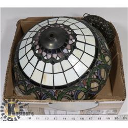 "TIFFANY-STYLE HANGING LAMP 12"" DIAMETER"