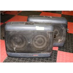 SET OF 2 PIONEER BEHIND SEAT TRACK MOUNT SPEAKERS