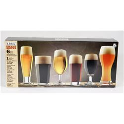 LIBBEY CRAFT BEER 6 PIECE CLASSIC GLASSWARE SET