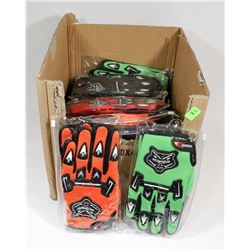 BOX WITH 20 PAIRS BMX GLOVES