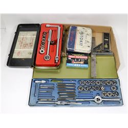 ESTATE FLAT OF TOOLS TAP & DIE SOCKETS & MORE.