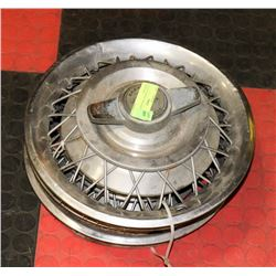 LOT OF 4 CHEVY SPINNER STYLE HUBCAPS