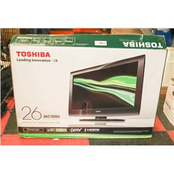 "TOSHIBA 26"" LCD TV WITH BOX"