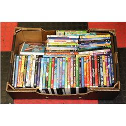 BOX OF APPROX 50 DVD'S