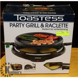 TOASTESS RACLETTE GRILL NEW