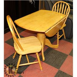 FARM STYLE 2 SEATER KITCHED TABLE -FOLDABLE LEAFS