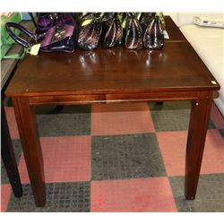 "WOOD TONE STYLE KITCHEN TABLE, 38""X48""X30"""