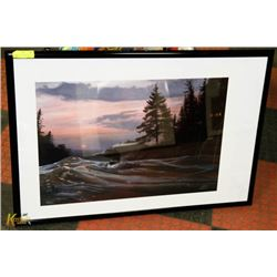 "FRAMED KEVIN DANIEL ""TWILIGHT CALM"""