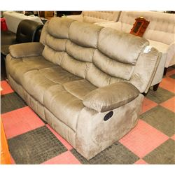 "SAGE FABRIC RECLINING 77"" SOFA"