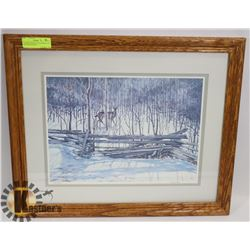 FRAMED, SIGNED, LTD EDITION 1991 RICHARD DEWOLF