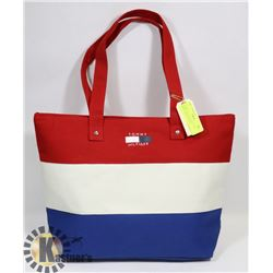 TOMMY HILFIGER REPLICA RED WHITE AND BLUE TOTE