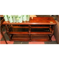 ESTATE WOOD SIDEBOARD WITH GLASS