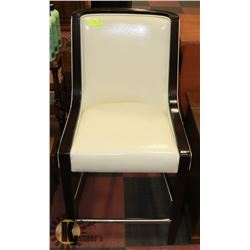 """28"""" IVORY LEATHER BAR HEIGHT CHAIR"""