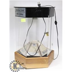 ROTATING LIGHT UP JEWELLERY DISPLAY CASE WITH KEY