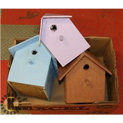 LOT OF 3 BIRD HOUSES