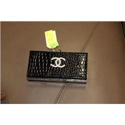 BLACK CHANEL REPLICA HARD SIDED WITH METAL STRAP