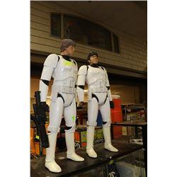 """LUKE SKYWALKER & HANS SOLO 31 """" STAR WARS ACTION"""
