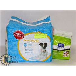 2 PACKAGES OF DOG PADS,