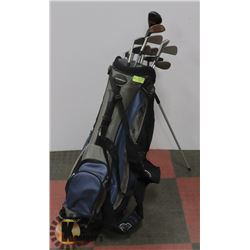 ADAMS GOLD BAG AND CLUBS