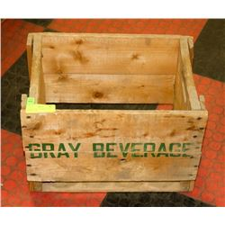 VINTAGE GRAY BEVERAGE POP DEPOSIT CASE
