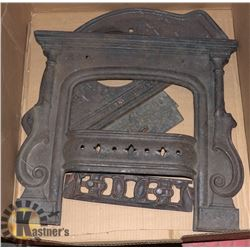 FLAT OF CAST IRON, ANTIQUE STOVE/FIREPLACE PARTS