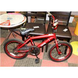 """BOYS TORRID RED 18"""" WHEEL BICYCLE"""