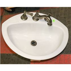 CRANE BATHROOM SINK WITH FAUCET MISSING PIECES