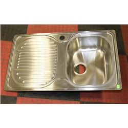 STAINLESS STEEL DROP IN KITCHEN SINK