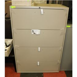 NEW GLOBAL BEIGE 4 DRAWER FILING CABINET