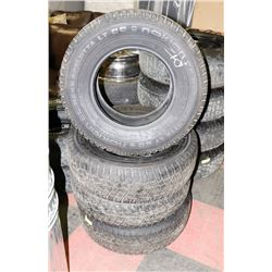 LOT OF 4 NOKIAN 245/75R16 MUD AND SNOW TIRES