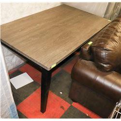 2 TONE GREY WOOD GRAIN STYLE KITCHEN TABLE