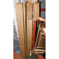4 BOXES OF BREAK AWAY FRAMES AND HANDLES