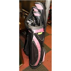 LADIES RIGHT HAND ALIEN GOLF CLUBS WITH HYBRIDS