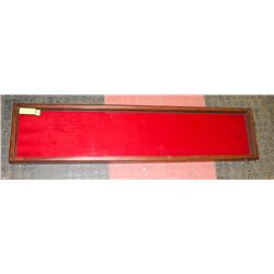 """TRADE SHOW CARRY DISPLAY CASE 44"""" X 10"""" WOOD"""