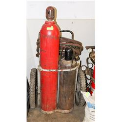 LARGE ACETYLENE WELDING WHEELED CART KIT