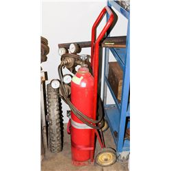 SMALL ACETYLENE WELDING WHEELED CART KIT
