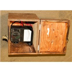 BOX WITH POWER METER AND LEADS