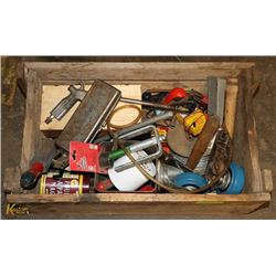 WOODEN BOX WITH ASSORTED