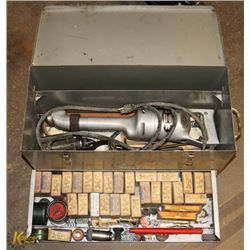 GRAY BOX WITH VALVE GRINDING SET UP