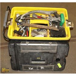 PORTABLE TOOL BOX ON WHEELS W/ CONTENTS