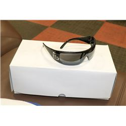 BOX OF  BLACK CHANEL STYLE DESIGNER SUNGLASSES
