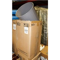 CASE OF 6 NEW METAL GARBAGE CANS