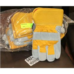 PK OF 6 FORCEFIELD WORK GLOVES SIZE UNKNOWN