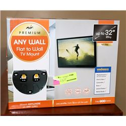 """UP TO 32"""" TV WALL MOUNT"""