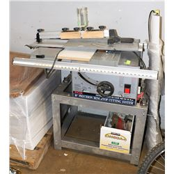 "RYOBI 10"" BENCHTOP SAW WITH STAND AND ASSORTED"